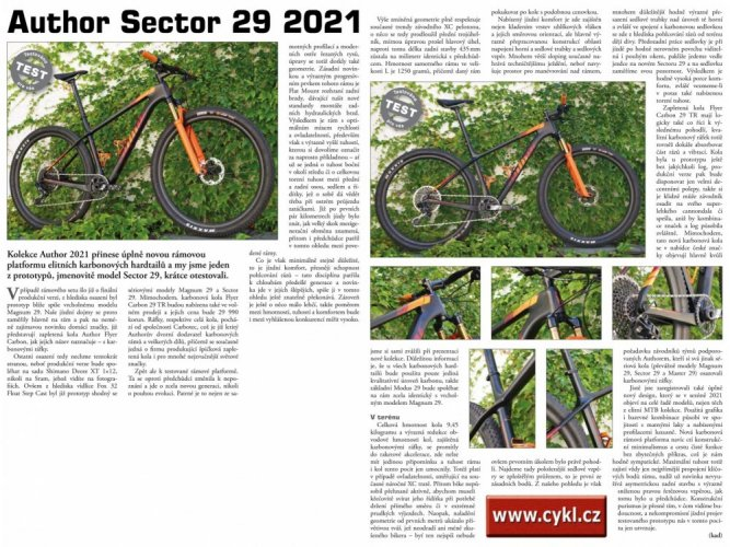 """AUTHOR Sector 29 2021 - Velikost: 19"""""""